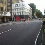 Olympic Cycle Race Test: Fulham Road, Chelsea