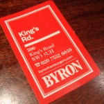 Byron: Best Burger on King&#8217;s Road!