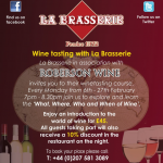 Wine Tasting Course at La Brasserie