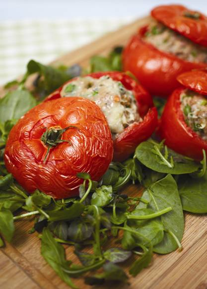 Stuffed tomatoes with Comté