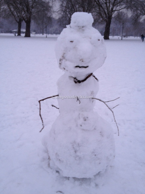 Snowman in Battersea Park