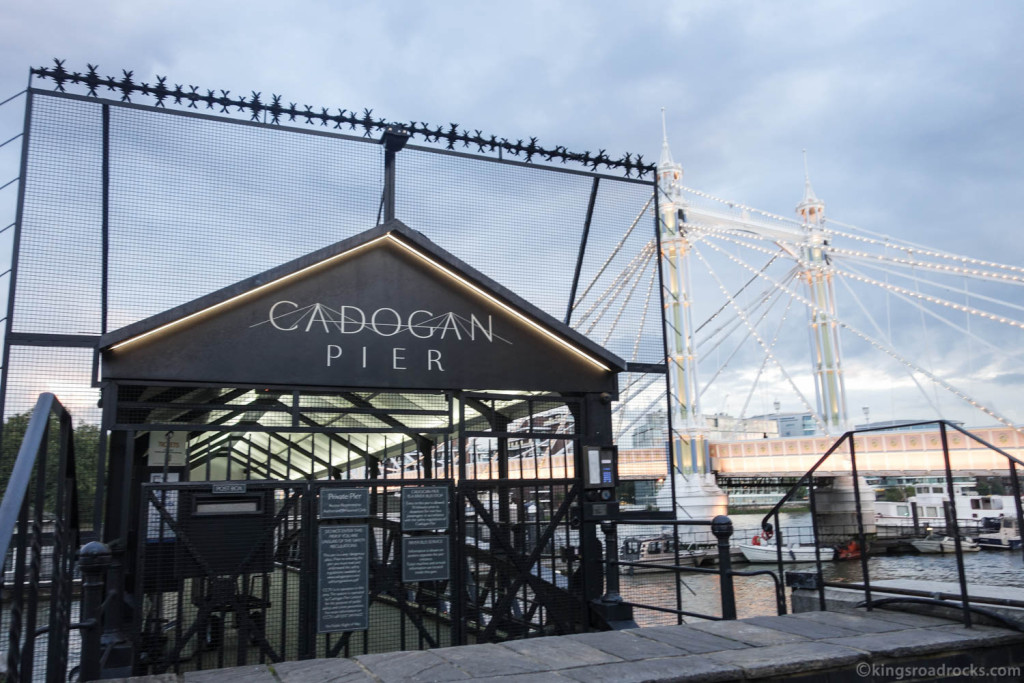 Taking the boat from Embankment to Cadogan Pier