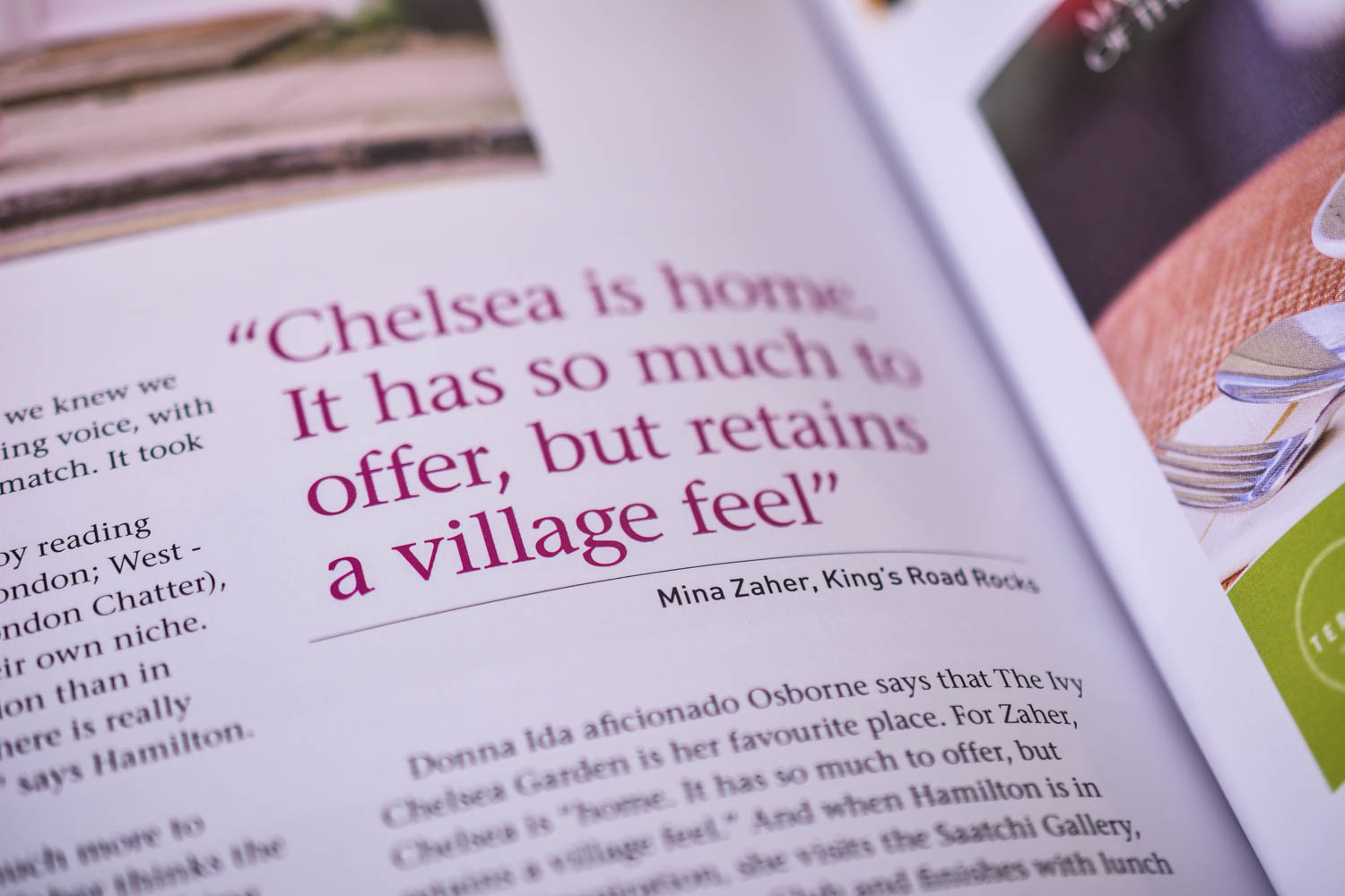 London Fashion Weekend and King's Road Rocks in Sloane Square Magazine