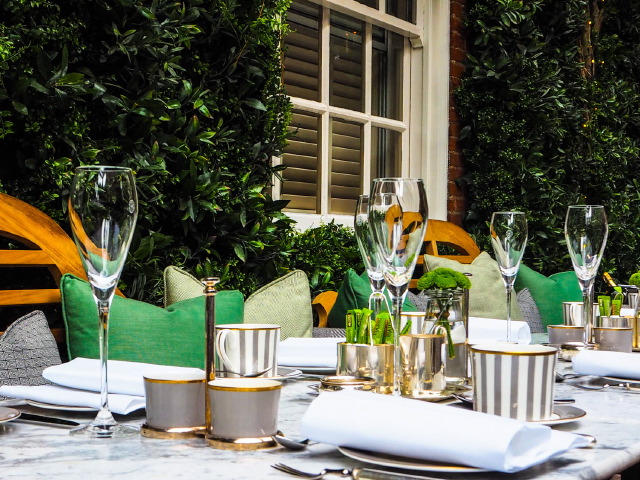 Afternoon Tea on Dalloway Terrace at The Bloomsbury Hotel
